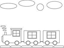Locomotora y dos carros Fotografía de archivo libre de regalías