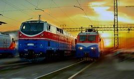 locomotoras Imagenes de archivo
