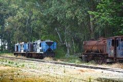 Locomotoras arruinadas Fotos de archivo