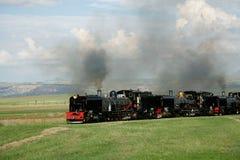 Locomotoras de vapor Imagen de archivo libre de regalías