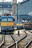 Locomotoras eléctricas Imágenes de archivo libres de regalías