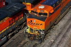 Locomotoras ferroviarias de BNSF Imagenes de archivo