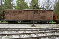 Locomotoras y carros viejos Fotos de archivo libres de regalías