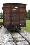 Locomotoras y carros viejos Foto de archivo libre de regalías