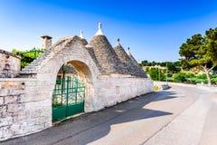 Locorotondo, Puglia - Trulli houses in Italy stock photo