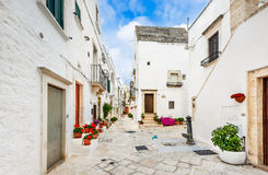 Locorotondo, Puglia, Italië stock afbeeldingen