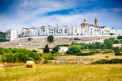 Locorotondo, Puglia, Italy. Locorotondo, Italy. Panoramic view of whitwashed city in Italian region of Puglia (Apulia). Town known for its wines and for its Stock Photography