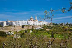 LOCOROTONDO. Puglia, Italy - View of the little picturesque village in south Italy Stock Image