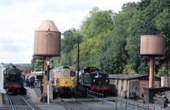 Locos, torres de agua, Bewdley Severn Valley Railway Fotografía de archivo libre de regalías