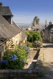 Locronan in Bretagne Stockfoto