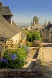 Locronan in Bretagne Lizenzfreies Stockfoto