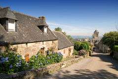 Locronan in brittany. The village of locronan in brittany near quimper Royalty Free Stock Images