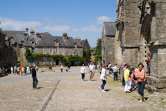 Locronan in brittany in summer 2011 royalty free stock photo
