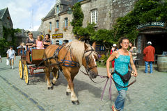 Locronan in brittany in summer 2011 Royalty Free Stock Image