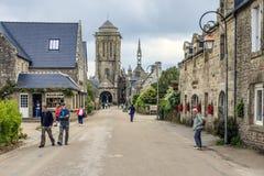 Locronan, Finistère, Bretagne, Frankrijk Royalty-vrije Stock Foto