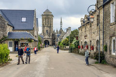 Locronan, Finistère, Brittany, France. Royalty Free Stock Photo