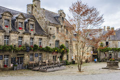Locronan, Finistère, Brittany, France. Royalty Free Stock Photography