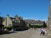 Locronan and village in Brittany Royalty Free Stock Photography