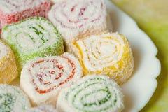 Locum Bonbons der türkischen Freude stockfotos