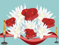Locus e rosas para esses que nós estimamos Foto de Stock