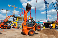LOCUST excavator on exhibition in Moscow, Russia Stock Photos