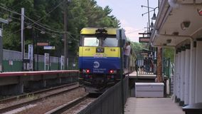 Locust Valley train station (1 of 4) stock video footage