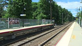 Locust Valley train station (2 of 4) stock video footage