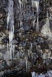 Lodów cykle na skale w ranku świetle obrazy royalty free