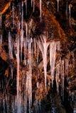 Lodów cykle na skale w ranku świetle zdjęcia stock