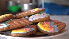 Lodów szyszkowi ciastka zdjęcie wideo