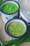 Lod Chong, postre tailandés, cocina tailandesa Imagenes de archivo