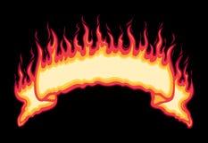 Lodernde Feuer-Fahne vektor abbildung