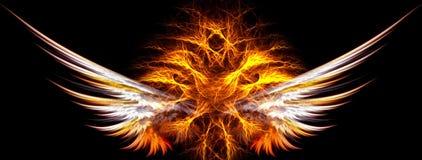 Lodernde Flügel lizenzfreie abbildung