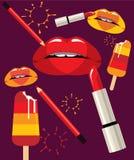 Lodernde Lippen Lizenzfreie Stockfotografie