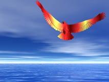 Lodernder Adler auch Stockfoto