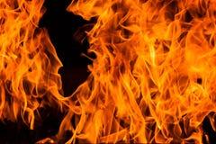 Loderndes Feuer-Flammenhintergrund Stockbild