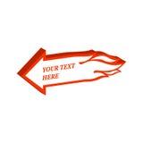 Loderndes Pfeilsymbol Flache isometrische Ikone oder Logo 3D Art Pict Lizenzfreie Stockfotos