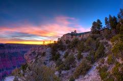 lodge каньона грандиозный стоковое фото rf