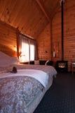 lodge Новая Зеландия ледника лисицы квартиры нутряной стоковая фотография