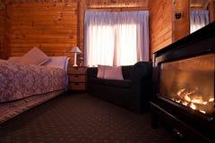 lodge Новая Зеландия ледника лисицы квартиры нутряной стоковая фотография rf