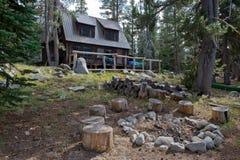 lodge пущи деревянный Стоковые Изображения RF