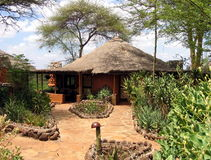 The safari Lodge in Kenya  Stock Images