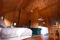 lodge Новая Зеландия ледника лисицы квартиры нутряной стоковое фото
