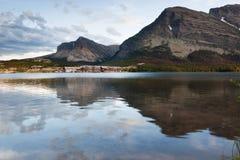 Lodge Across the Lake Stock Photography