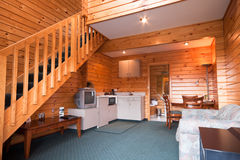 Lodge apartment wooden interior detail Royalty Free Stock Photography