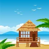 Lodge on beach Royalty Free Stock Photo