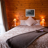 Lodge bedroom interior detail Royalty Free Stock Photography