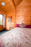 Lodge bedroom interior detail Royalty Free Stock Photos
