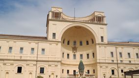 The lodge in the Belvedere courtyard in the Vatican Museums.  stock video footage