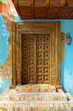 Lodge door. Tropical lodge door, Balinese traditional entrance Stock Photos